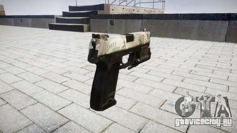 Пистолет HK USP 45 woodland для GTA 4 второй скриншот