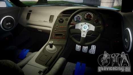 Toyota Supra 1998 для GTA 4 вид изнутри