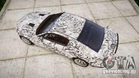 Ford Mustang Shelby GT500 2013 Sharpie для GTA 4 вид справа