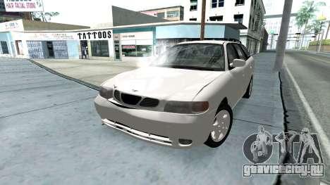 Daewoo Nubira I универсал CDX США, 1999 г. для GTA San Andreas двигатель
