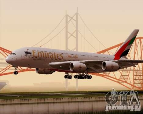 Airbus A380-800 Emirates 40 Anniversary Sticker для GTA San Andreas вид слева