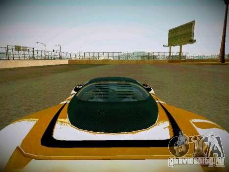 Cheetah из GTA 5 для GTA San Andreas вид сзади