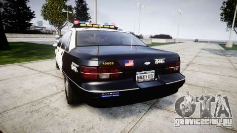 Chevrolet Caprice 1991 LAPD [ELS] Traffic для GTA 4 вид сзади слева