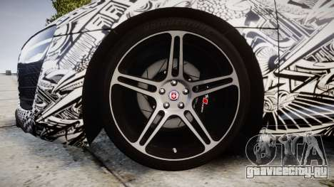 Audi R8 plus 2013 HRE rims Sharpie для GTA 4 вид сзади