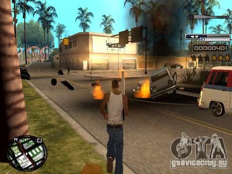 CLEO HUD Spiceman для GTA San Andreas третий скриншот