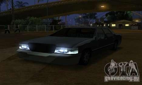Beta Elegant Final для GTA San Andreas вид изнутри