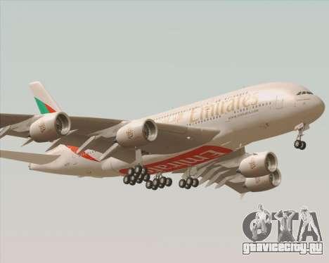 Airbus A380-800 Emirates 40 Anniversary Sticker для GTA San Andreas вид сзади