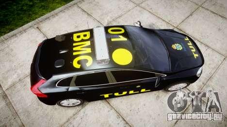 Volvo V40 Swedish TULL [ELS] для GTA 4 вид справа