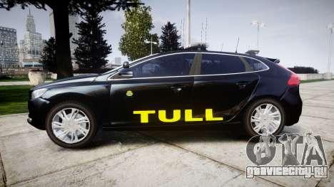 Volvo V40 Swedish TULL [ELS] для GTA 4 вид слева