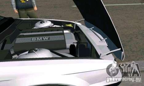 BMW 525 Turbo для GTA San Andreas вид сзади