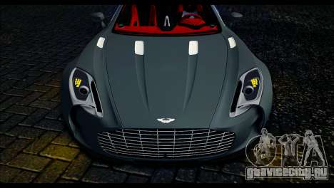 Aston Martin One-77 Red and Black для GTA San Andreas вид сзади слева