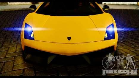 Lamborghini Gallardo LP 570-4 для GTA San Andreas вид сзади слева