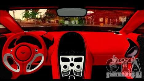 Aston Martin One-77 Red and Black для GTA San Andreas вид сзади