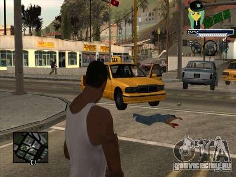 C-HUD Grove Street Gang для GTA San Andreas второй скриншот