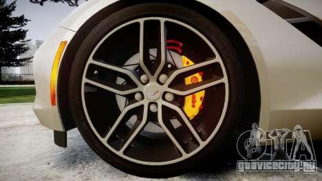 Chevrolet Corvette C7 2014 Tuning для GTA 4 вид сзади