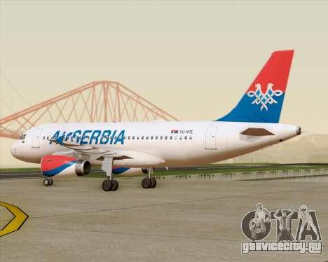 Airbus A319-100 Air Serbia для GTA San Andreas вид сбоку