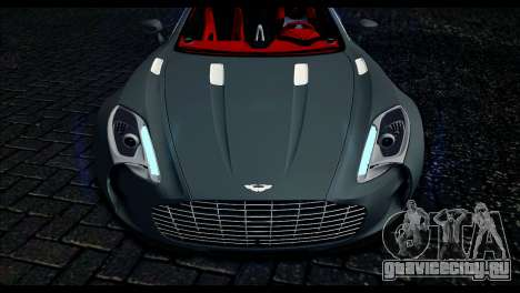 Aston Martin One-77 Red and Black для GTA San Andreas вид справа