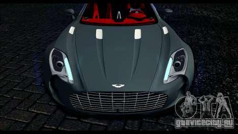 Aston Martin One-77 Red and Black для GTA San Andreas вид справа