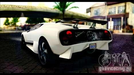 GTA 5 Pegassi Infernus для GTA San Andreas вид слева