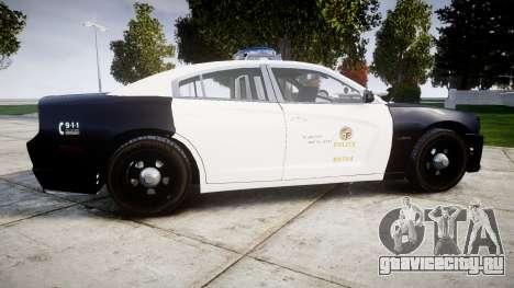 Dodge Charger 2013 LAPD [ELS] для GTA 4 вид слева