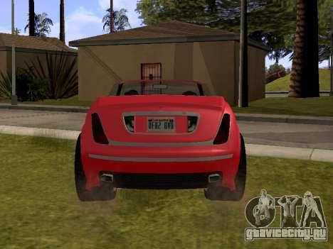 Cognoscenti Cabrio для GTA San Andreas вид сзади слева