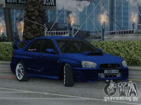 Subaru impreza WRX STI 2004 для GTA San Andreas вид справа