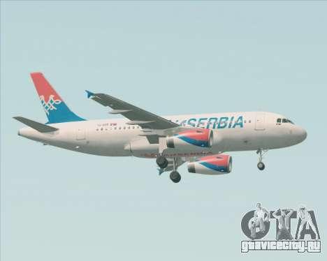 Airbus A319-100 Air Serbia для GTA San Andreas вид справа