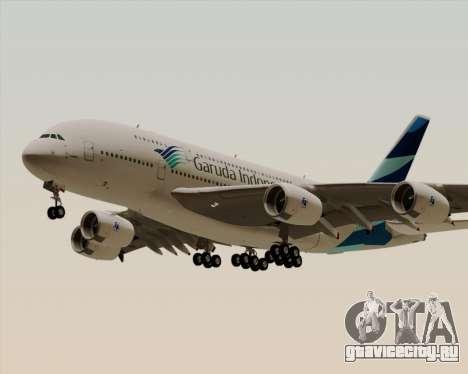 Airbus A380-800 Garuda Indonesia для GTA San Andreas вид изнутри