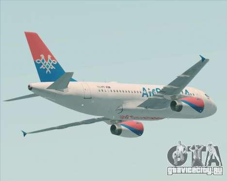 Airbus A319-100 Air Serbia для GTA San Andreas вид сзади