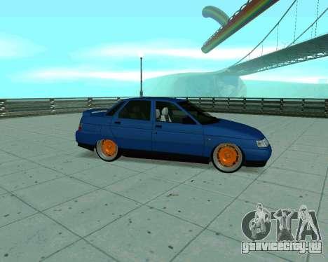 ВАЗ 2110 Такси для GTA San Andreas вид сзади слева