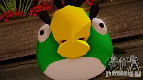 Green Bird from Angry Birds для GTA San Andreas третий скриншот