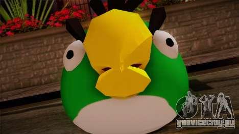 Green Bird from Angry Birds для GTA San Andreas третий скриншот