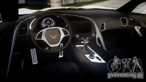 Chevrolet Corvette Stingray C7 2014 Sharpie для GTA 4 вид изнутри