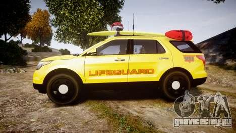 Ford Explorer 2013 Lifeguard Beach [ELS] для GTA 4 вид слева