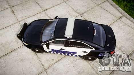 Ford Taurus 2014 Sheriff [ELS] для GTA 4 вид справа