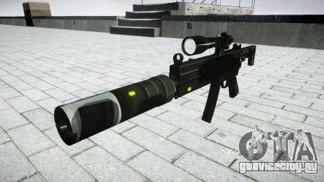 Тактический пистолет-пулемёт MP5 target для GTA 4