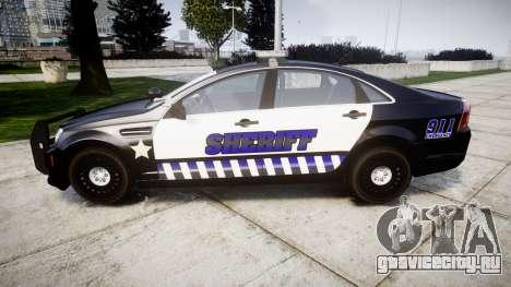 Chevrolet Caprice 2012 Sheriff [ELS] v1.1 для GTA 4 вид слева