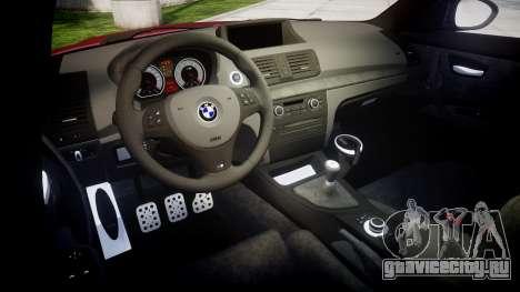 BMW 1M 2011 Sharpie для GTA 4 вид изнутри