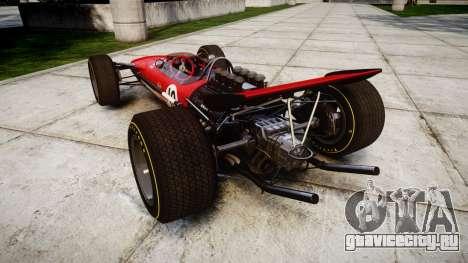 Lotus Type 49 1967 [RIV] PJ9-10 для GTA 4 вид сзади слева