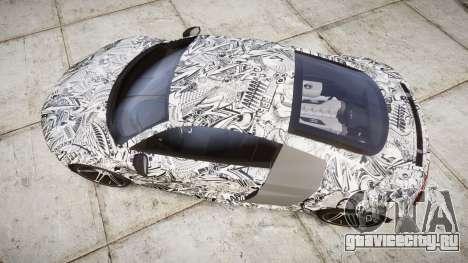 Audi R8 plus 2013 HRE rims Sharpie для GTA 4 вид справа