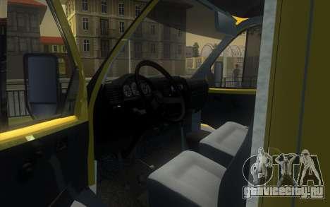 ГАЗель 2705 Инкассация Альфа Банк для GTA San Andreas вид справа