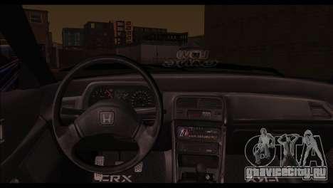Honda CRX для GTA San Andreas вид сзади слева