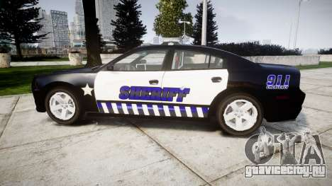 Dodge Charger RT 2014 Sheriff [ELS] для GTA 4 вид слева