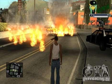 C-HUD Grove Street Gang для GTA San Andreas третий скриншот
