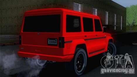 GTA 5 Benefactor Dubsta для GTA San Andreas вид слева