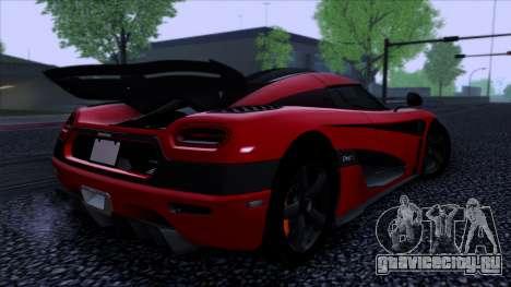 Koenigsegg One:1 2014 для GTA San Andreas вид слева