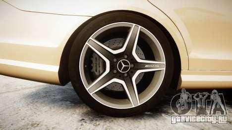 Mercedes-Benz C63 AMG 2010 для GTA 4 вид сзади