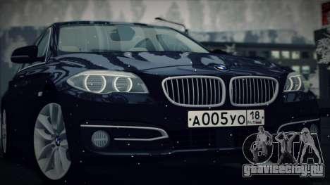BMW 535i F10 для GTA San Andreas вид сзади слева