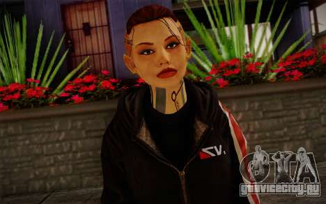Jack Hood from Mass Effect 3 для GTA San Andreas третий скриншот