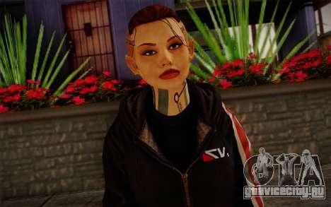 Jack Hood from Mass Effect 3 для GTA San Andreas третий скриншот